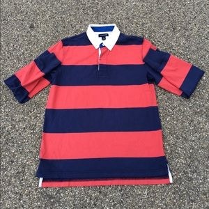Land's End Striped Rugby Shirt